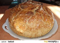 Domácí chlebík recept - TopRecepty.cz Food And Drink, Bread, Cooking, Recipes, Kitchen, Brot, Recipies, Baking, Breads