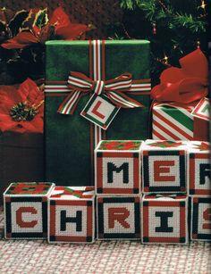 Merry Christmas Monogram Squares Pg. 1/6