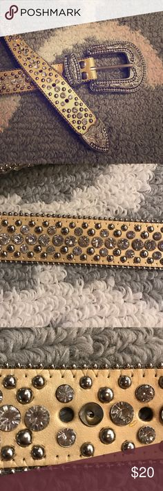Bling belt!!! Super bling gold belt! One stud missing (see photo) but not noticeable at all!!! Accessories Belts