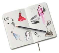 """Sketches"" by cardigurl ❤ liked on Polyvore featuring art"