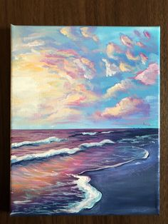 Acrylic Beach Landscape canvas painting acrylic beach canvas landscape paintingAcrylic Beach Landscape canvas painting'Acrylic - Golden Sunset' by painting on canvas board / Inspired by the beautiful sunsets found here Cute Canvas Paintings, Small Canvas Art, Acrylic Painting Canvas, Ocean Paintings, Acrylic Painting Inspiration, Painting Art, Watercolor Painting, Indian Paintings, Acrylic Landscape Painting