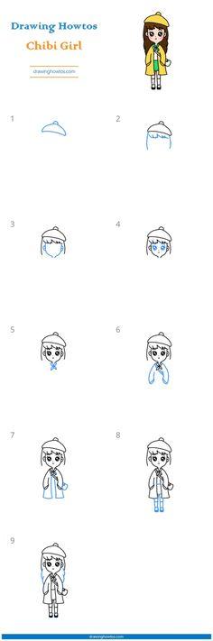 Chibi Girl, Girl Reading, Learn To Draw, Girl Face, Girls Eyes, Easy Drawings, Caricature, Character Art, Illustration Art
