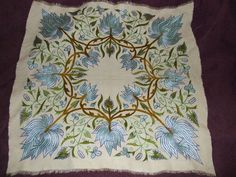 ARTS AND CRAFTS PILLOW DEERFIELD SOCIETY OF BLUE AND WHITE NEEDLEWORK