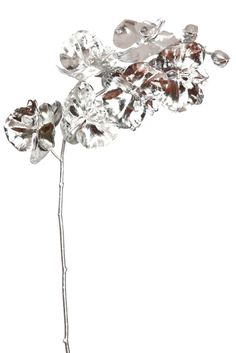 Nacardos y metalizados : Vara Orquídea Butterfly Plata Artificial