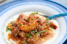 A Quick & Easy Shrimp and Grits from MJ's Kitchen. This shrimp and grits recipe has a delicious sauce served with the shrimp and vegetables over creamy grits. Best Shrimp And Grits Recipe, Easy Shrimp And Grits, Shrimp Recipes, Charleston Shrimp And Grits, Southern Shrimp And Grits, Garlicky Shrimp, Spicy Shrimp, Southern Dishes, Southern Recipes