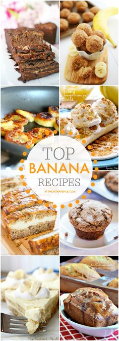 Top Ripe Banana Recipes at the36thavenue.com PIN IT NOW and make them later!