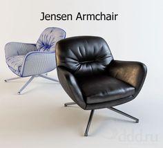 """PROFI"" Jensen Armchair 3dsMax 2012 + fbx (Vray) : Кресла : Файлы : 3D модели, уроки, текстуры, 3d max, Vray"