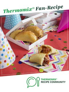 Pizza pockets by Thermomix in Australia. A Thermomix <sup>®</sup> recipe in the category Main dishes - meat on www.recipecommunity.com.au, the Thermomix <sup>®</sup> Community.