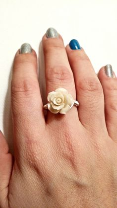 Rose wrapped ring.
