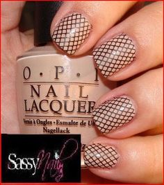 Fish net nail art!  Designing your nails is SO EASY with MOYOU nail art kits! Visit our website: www.lvnailart.com