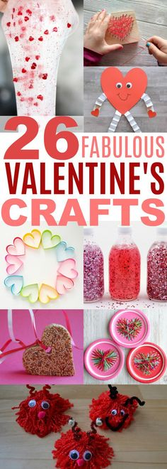Valentine's Day Ideas for Kids Crafts.  Make fabulous Valentine's Day Crafts for gifts, decor or just plain fun.