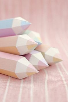 cute pastel pencils {via} so cute things
