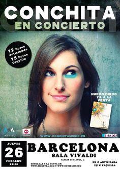 Concierto de Conchita en Barcelona