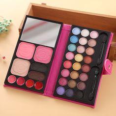 1pcs PU Leather 33 Colours Eye Shadow Blusher Lipstick Collection Contour Palette Makeup Set Kit 3 Colors|290f22e2-5ed0-47b5-a951-27b998b6aa5f|Makeup Sets