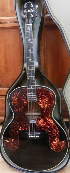 VINTAGE Hondo Little Susie Acoustic Guitar 1984 with extra bling [ƒrettedchordophone 2014] --- www.pinterest.com/...