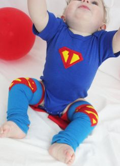 Superman First Birthday Onesie Superman Baby Leg Warmers 1st Birthday via Etsy
