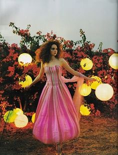 Lily Cole in 'Lily Takes A Trip' by Tim Walker for Vogue UK July 2005