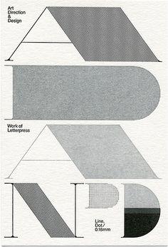 Art DIrection, Design, Letterpress, Black & White, Print, Lettering, Typeography