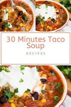 Find easy-to-make comfort food recipes like Healty recipes, dinner recipes and more recipes to make your fantastic food today. Soup Recipes, Dinner Recipes, Canned Black Beans, Taco Soup, Chana Masala, Healthy Drinks, Gluten Free Recipes, Ground Beef, Food To Make