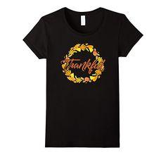 Amazon.com: Thankful - Fall and Thanksgiving Autumn T-Shirt: Clothing
