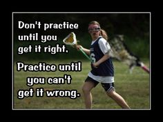 """Lacrosse Poster Photo Quote Wall Art Print 5x7""""- 11x14"""" Don't Practice Til U Get It Right -Practice Til U Can't Get It Wrong - Free USA Ship by ArleyArtEmporium on Etsy"""
