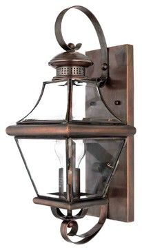 Quoizel CAR8728AC Carleton Aged Copper Outdoor Wall Sconce - Rustic - Outdoor Lighting - Littman Bros Lighting