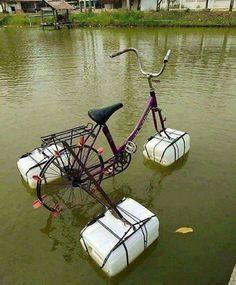 Bicicleta para ir por el agua