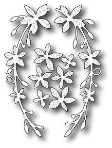 Wykrojnik - Memory Box - Seraphine Laurel 99399 Na-Strychu Kirigami, Stencils, Leaf Template, Templates, Memory Box Dies, Embossing Folder, Cool Patterns, Paper Flowers, Card Stock