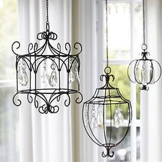 Hanging Crystal Wire Chandelier from Pottery Barn Kids Pottery Barn Kids, Pottery Barn Inspired, Diy Luminaire, Diy Lampe, Wire Chandelier, Wire Pendant, Chandelier Ideas, Iron Chandeliers, Small Chandeliers