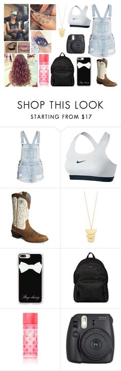 """""""The less you care, the happier you'll be."""" by jblover-1fan on Polyvore featuring NIKE, Ariat, Gorjana, Casetify, Hogan and Victoria's Secret"""