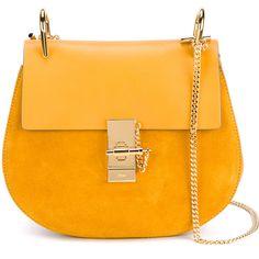 CHLOÉ Small Calfskin Drew Bag ($1,695) ❤ liked on Polyvore featuring bags, handbags, sac, summer handbags, hand bags, chloe bag, orange purse and pocket purse
