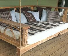 Porch Swing Bed  Kick back and relax on the porch swing bed. This handmade piece provides a gentle rocking motion while you lay in a state of total relaxation and curl up with a good book while yelling at the young whippersnappers to get off your god damn lawn.  $1799.00  Check It Out  Awesome Sht You Can Buy