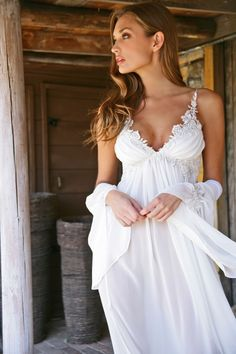 Bridal Wedding and Honeymoon, Lingerie and Swimwear. Night gown Id wear in the day, bridel white lingerie, negligee