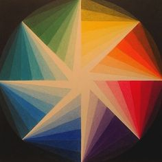 An interesting take on the color wheel, geometric art by Zanis Waldheims, a Latvian geometric abstractionist painter who produced work from the until his death in Color Wheel Design, Color Wheel Art, Design Art, Graphic Design, Geometric Designs, Geometric Shapes, Color Wheel Projects, Art Abstrait, Elements Of Art