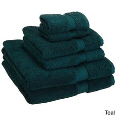 Set of 6 Egyptian cotton towels in teal. Includes 2 bath towels, 2 hand towels, and 2 face towels. Best Bathroom Scale, Small Bathroom, Master Bathroom, Bathroom Ideas, Bathroom Designs, Bathroom Inspiration, Modern Bathroom, Design Inspiration, Design Ideas