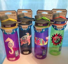 Personalized Monogram Camelbak Chute Water Bottles by PawsAndEnjoy
