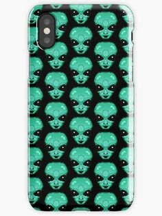 Alien ' iPhone Case by proudnothing Cool Iphone Cases, 8 Bit, Card Case, Pixel Art, Gift Ideas, Cool Stuff, Gifts, Presents, Favors