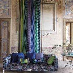 indupala - cobalt fabric | Designers Guild