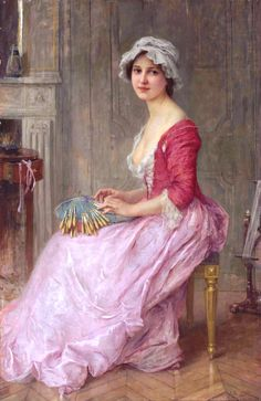 """The Lace Maker"", by Charles-Amable Lenoir (French 1860 – 1926)"