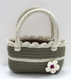 FLOWER CROCHET BAG #crochet #bag #flower