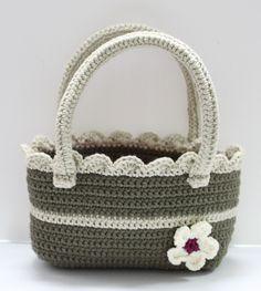 FLOWER CROCHET BAG #crochet #bag #flower