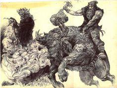 Gilgamesh is riding to death by Gilgamesh Lornezhad