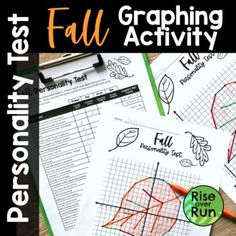 """Students will love taking this """"Fall Personality Test"""" while getting practice graphing ordered pairs on a coordinate plane! First students mark if they agree or disagree with statements such as...I enjoy jumping in piles of leaves.Pies are awesome desserts.I like wearing plaid patterns.Pumpkin spice ... Graphing Activities, Group Activities, Awesome Desserts, Fun Desserts, Rise And Run, 12th Maths, Hands On Learning, Student Engagement, Pumpkin Spice"""
