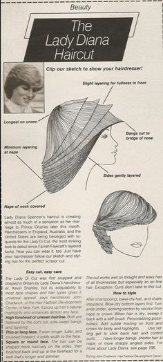 Mode: Kapsels & Make-up allerlei Kapsel: als je haar maar goed zit ♥ *Happy Hair = Happy Feelings ♥ ~Prinses Diana uit Seventeen Magazine, 7-1981~