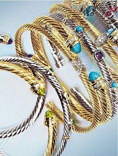 David Yurman Bracelets....can't get enough of these!