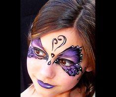 Facepaint:  Butterfly Ball #howtofacepaint