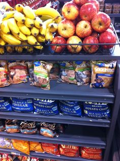 This Whole Foods checkout gets a mixed grade. More bananas and apples, and ditch the chips please! (Whole Foods, Washington, DC, 8/15)