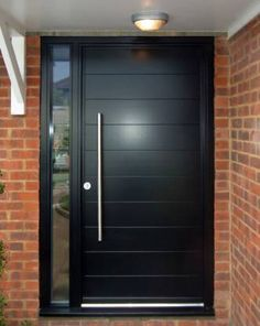 Product and product group images - Euro FunkyFront contemporary entrance door, Frame 2 painted RAL 9005 Black Kloeber 34669.jpg