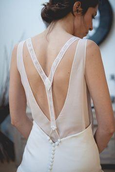 Robe Gatsby - Marie Mathilde collection 2015 #robe #mariée #dosnu #bridaldress #backless