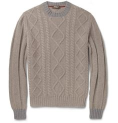 Loro PianaCoarsehair Cable-Knit Cashmere Sweater